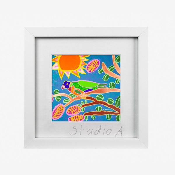 10257-studioa-10x8withmat-Tweety-Lorikeety-Emily-Crockford