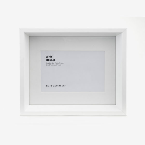 """Shadow Box Frame with 6x4"""" Mat"""