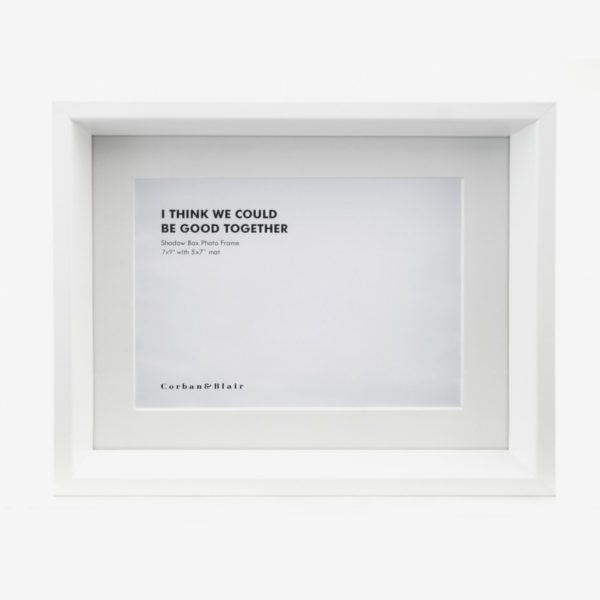 """Shadow Box Frame with 5x7"""" Mat"""