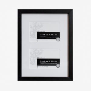 "Twin Slim Box Frame with 6x4"" mat"