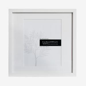"Square Slim Box Frame 14x14"" with 10x8"" Mat"