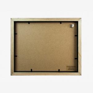 5x7 mat Slim Box Frame black