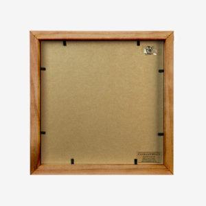 4x4 mat Slim Box Frame walnut