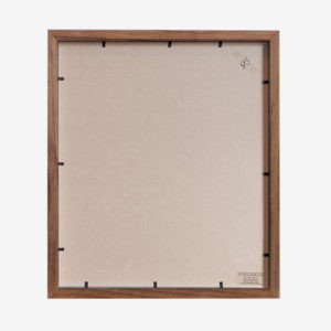10x8 mat Slim Box Frame walnut