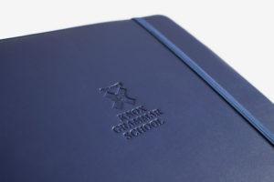 A4 folder compendium Knox grammer school blue custom made