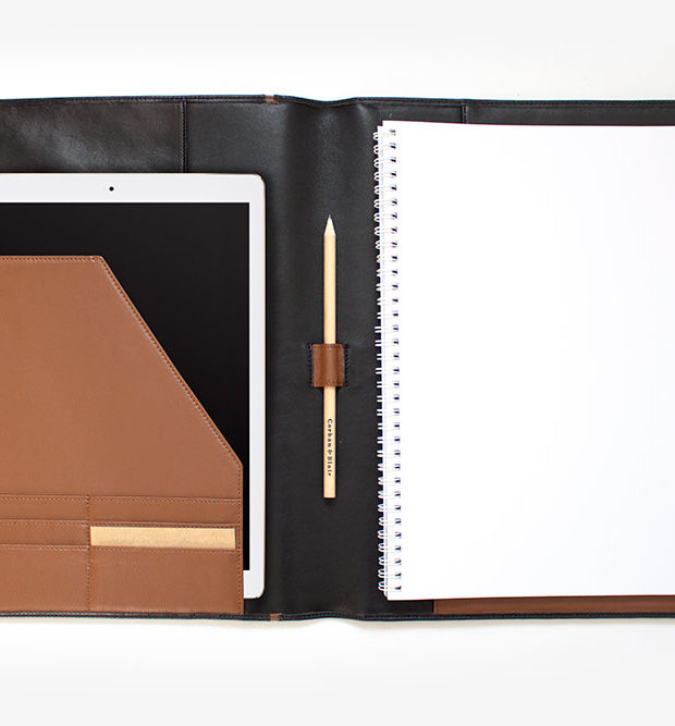 Ottomin A4 compendium leather brown custom made