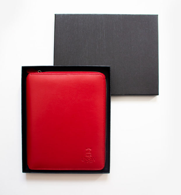 UNSW red A5 compendium boxed corporate gift