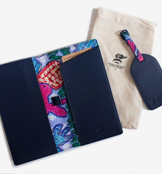 Liberty x Studio A collaboration travel set travel wallet