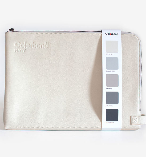 Zip satchel Colorbond white