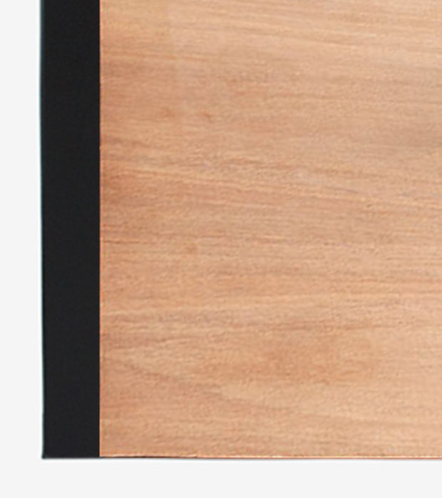 material veneer cover with black spine