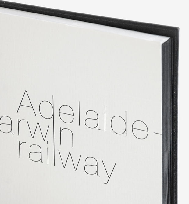Adelaide railway portfolio with metal cover laser etched logo
