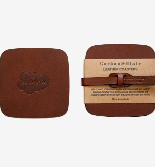 leather coaster set salesforce