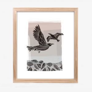 20745-lucy-10x8-mat-Crow-And-Seagull-black