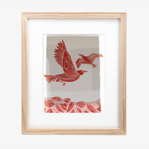 20749-lucy-10x8-mat-Crow-And-Seagull-red
