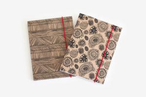 Westpac a5 notebook kraft Lucy Simpson design