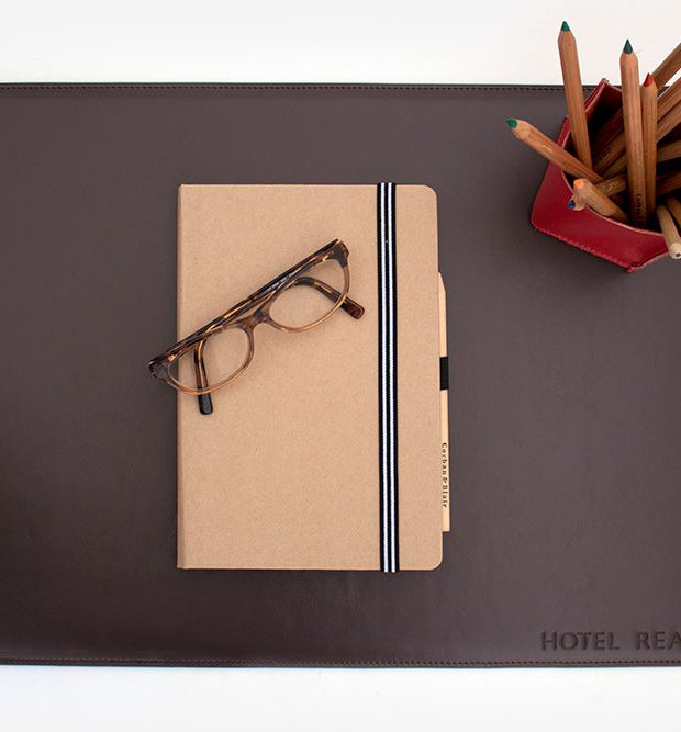 leather Desk mat hotel realm