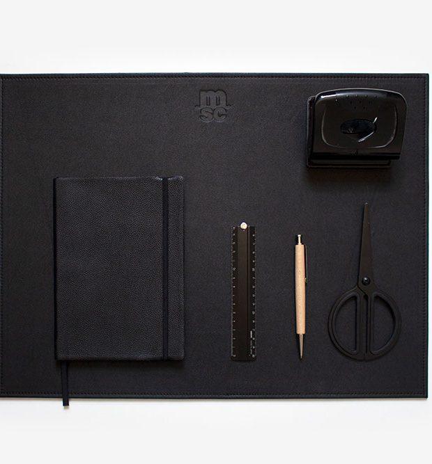 Leather desk mat MSC