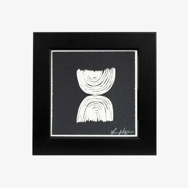 "4x4"" Framed Print, DUALITY by Gaawaa Miyay Designs"