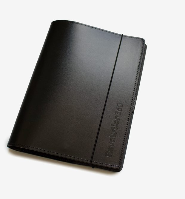 Australian made recycled leather journal revolution 360