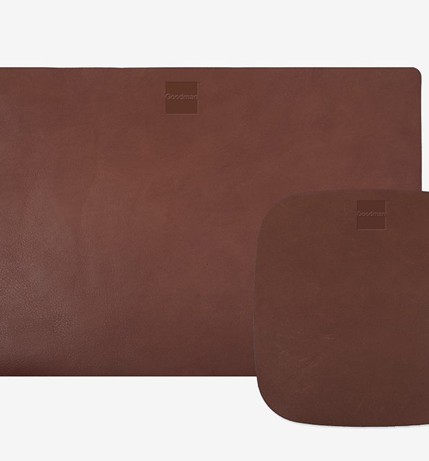 Leather desk mat and mouse pad hand made in Australia Goodman