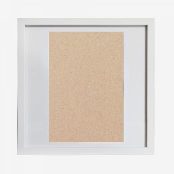 """Square Slim Box Frame 14x14"""" with A4"""" Mat"""