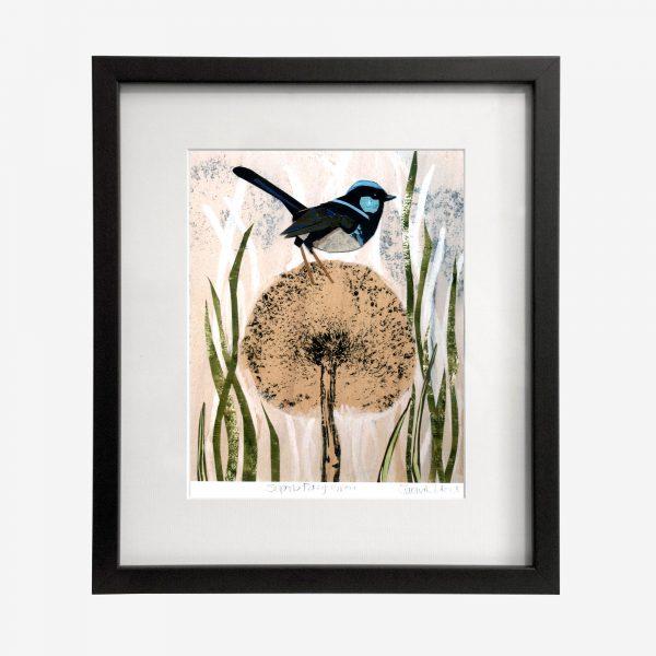 Fiona Roderick Framed Print, Fairy Wren