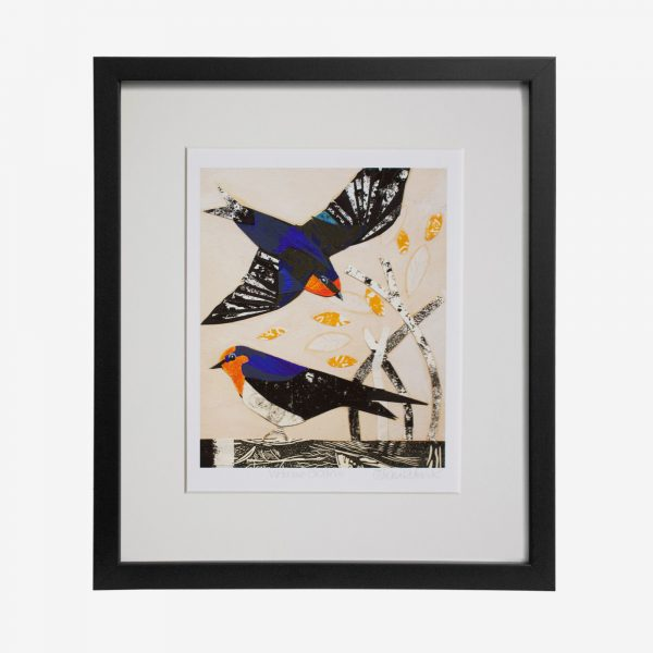 Fiona Roderick Framed Print, Welcome Swallows